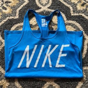 Nike Blue Racerback Athletic Tanktop